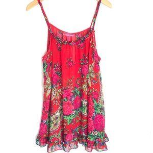 Betsey Johnson Intimates Floral Ruffles S
